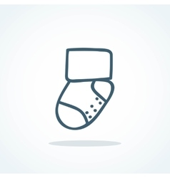 little socks icon Children theme vector image