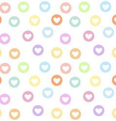 Motley seamless girly pattern with pastel colored vector