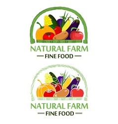Natural farm color vector