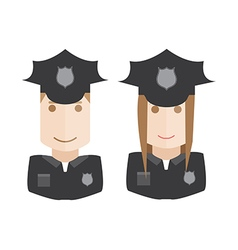 Objects icons police avatars set vector