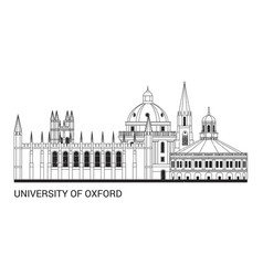 oxford university vector image