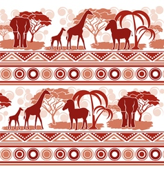 Pattern in african style vector