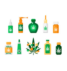 Pharmacy cannabis composition vector