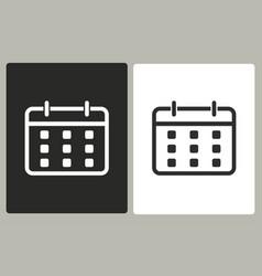 Planning calendar - icon vector