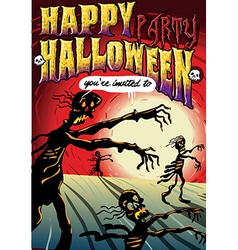 Poster Invite for Halloween Party vector image vector image