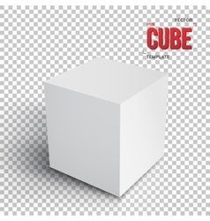 Realistic cube template eps10 grey vector