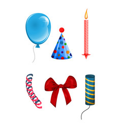 set of objects for celebration vector image vector image