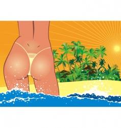 sexy girl in bikini vector image
