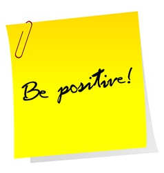Sheet of paper with optimistic message vector image vector image