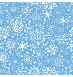 Snowflakes seamless patternlaceWinterChristmas vector image vector image