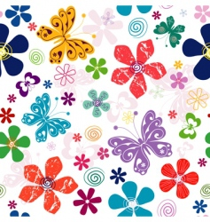 spring seamless white floral pattern vector image vector image