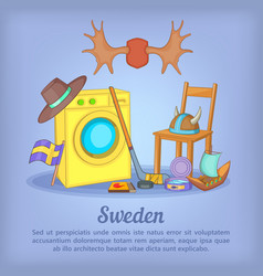 Sweden concept cartoon style vector