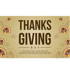 Thanksgiving background style with turkey vector