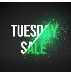Tuesday sale energy explosion concept vector