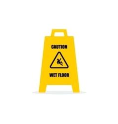 Yellow Wet Floor Sign Flat icon vector image