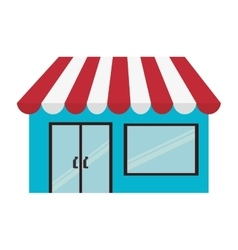 Store shop building small vector