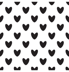 Black heart icon pattern vector