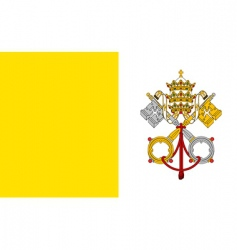 Vatican city holy see flag vector