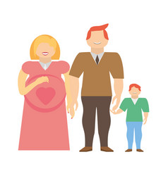 Family pregnancy couple image vector
