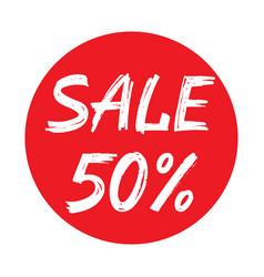 Sale 50 percent concept graphic vector