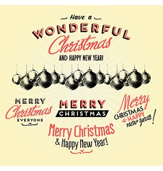 Retro Vintage Merry Christmas Tin Sign vector image