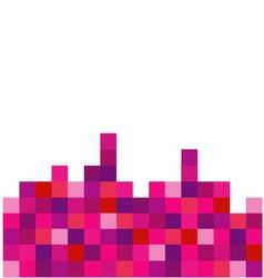 Pixel art background vector image