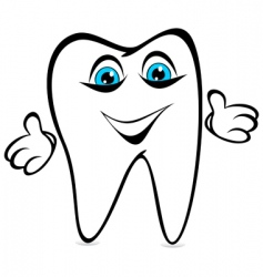 Tooth smiles vector