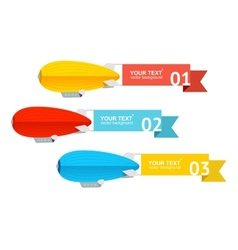 Airship card for your text vector image