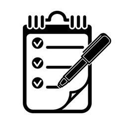 To Do List Clipboard Pen Icon vector image