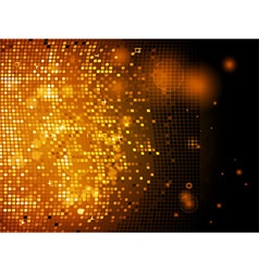 Sparkling golden disco wall vector
