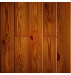 Realistic brown wood boards texture vector
