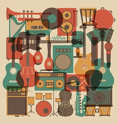 208all abstract music vector image