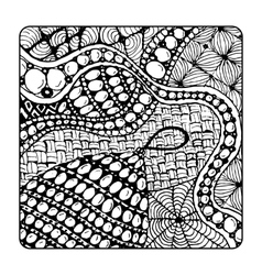 Zentangle ornament sketch for your design vector