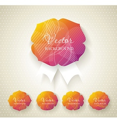 Set of paper labels with abstract pattern vector image