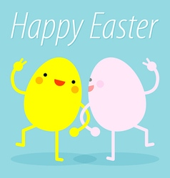 Easter eggs dance vector