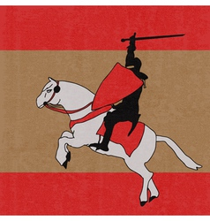 Paper knight vector