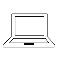 Laptop icon technology and gadget design vector