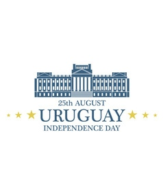 Independence day uruguay vector