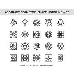 Abstract geometric shape monoline 52 vector