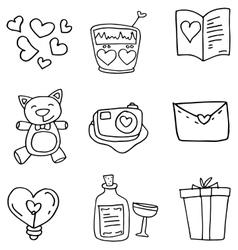 Art love of doodles vector