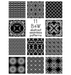 Black And White Abstract Patterns vector image