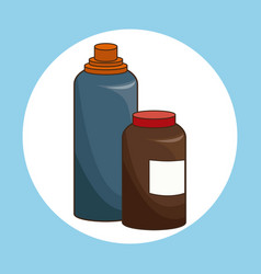 Bottle water vitamins sport icon vector