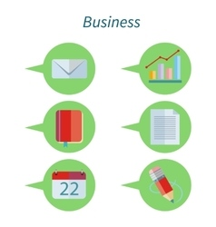 Business concept flat design set icon vector