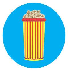 Cardboard cup of popcorn icon vector image