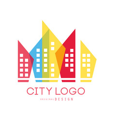 city logo original design of modern real estate vector image vector image