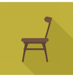 Digital wooden brown chair vector