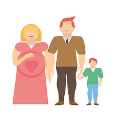 Family pregnancy couple image vector
