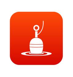 Floating bobber icon digital red vector