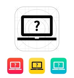 Help and FAQ laptop icon vector image vector image