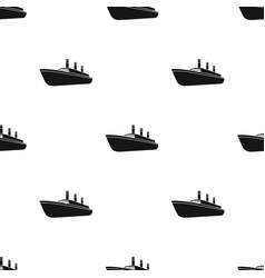 Huge cargo black linership for transportation of vector
